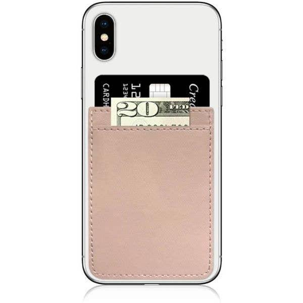 IDecoz Faux Leather Phone Pocket - Nude