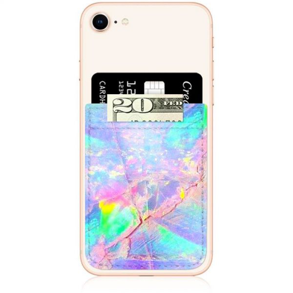 IDecoz Faux Leather Phone Pocket - Opal Print