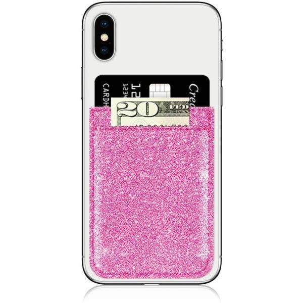 IDecoz Faux Leather Phone Pocket - Pink Glitter