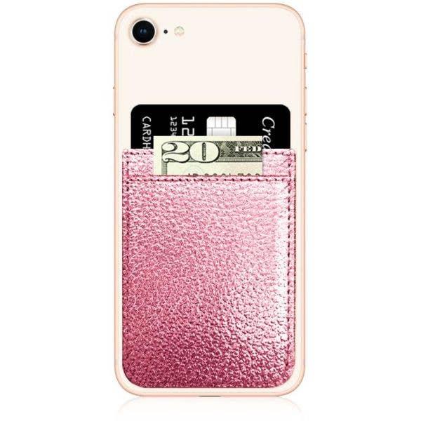 IDecoz Faux Leather Phone Pocket - Rose Gold