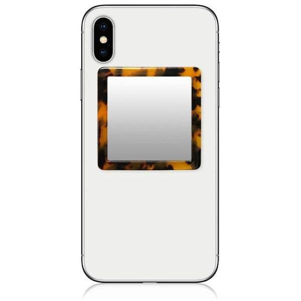 IDecoz Square Phone Mirror - Tortoise