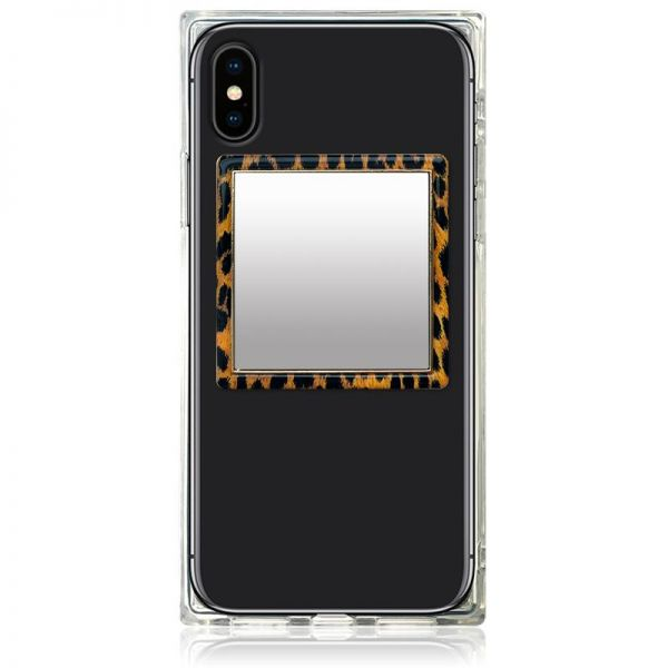 iDecoz Square Phone Mirror - Leopard