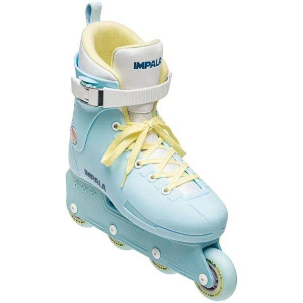 Impala Lightspeed Aggressive Skates - Sky Blue/Yellow