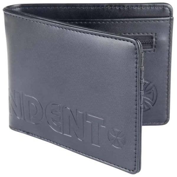 Independent Bar Cross Wallet - Black Emboss
