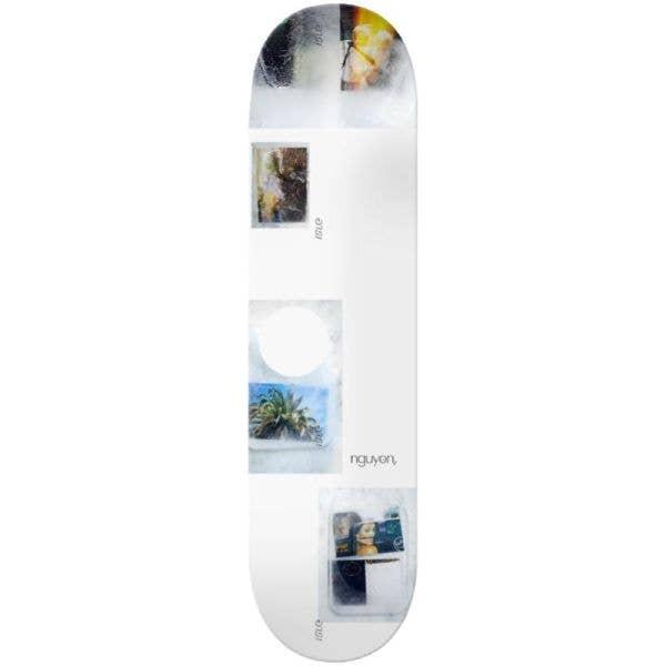 Isle Freeze Jon Nguyen Skateboard Deck - White 8.125''