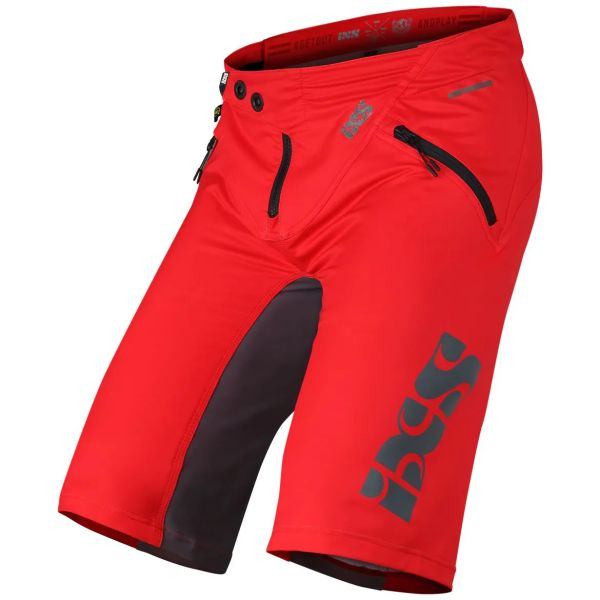 iXS Trigger Shorts - Red/Graphite