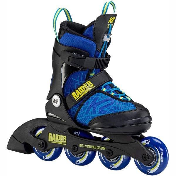 K2 Raider Pro Adjustable Inline Skates - Blue/Yellow