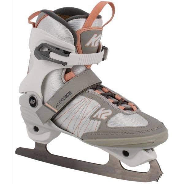 K2 Alexis Ice Figure Skates - White/Pink