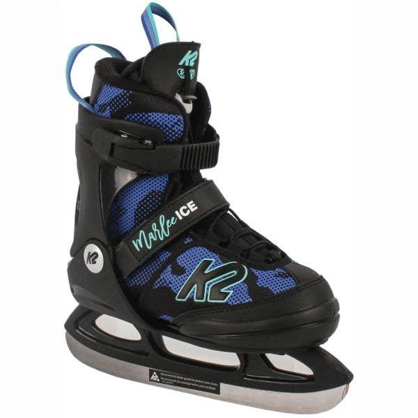 K2 Marlee Ice Adjustable Ice Skates - Black/Blue Medium