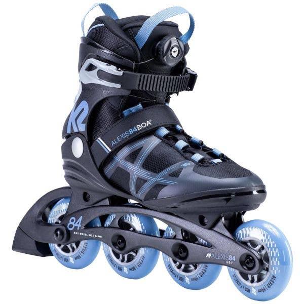 K2 Alexis 84 Boa Inline Skates - Black/Lavender
