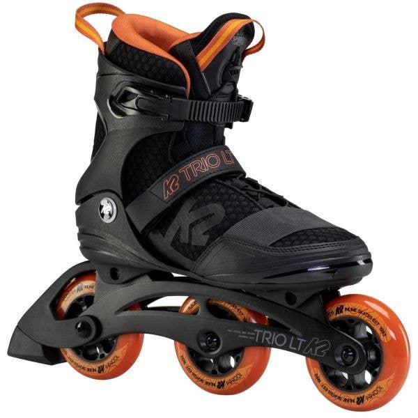 K2 Trio LT 100 M Roller Blades - Black/Orange