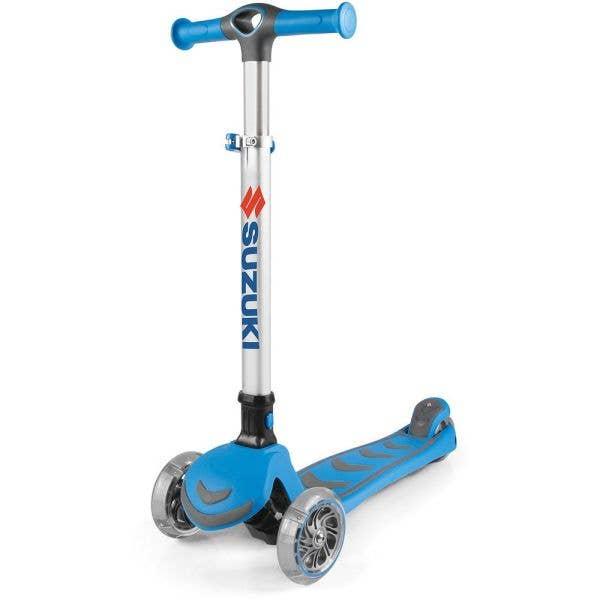 Kiddimoto Suzuki U-Zoom3 Three Wheeled Scooter - Blue