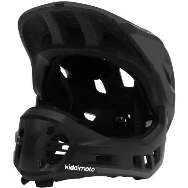 Kiddimoto Ikon Full Face 2-in-1  Helmet - Black