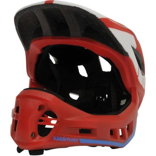 Kiddimoto Ikon Full Face 2-in-1  Helmet - Red/Blue