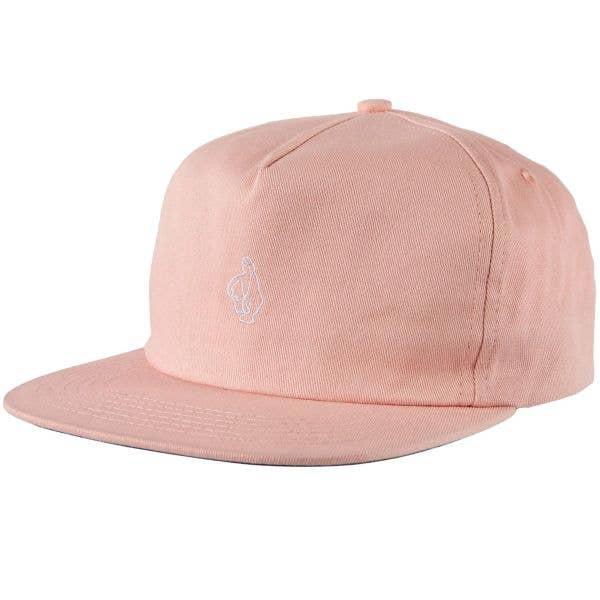 Krooked Shmoo Snapback Cap - Pink/White