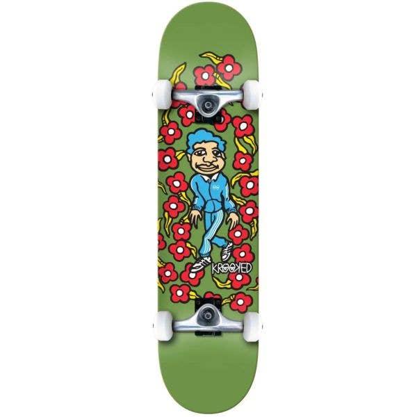 Krooked Classic Sweatpants Complete Skateboard - Green 8.25''