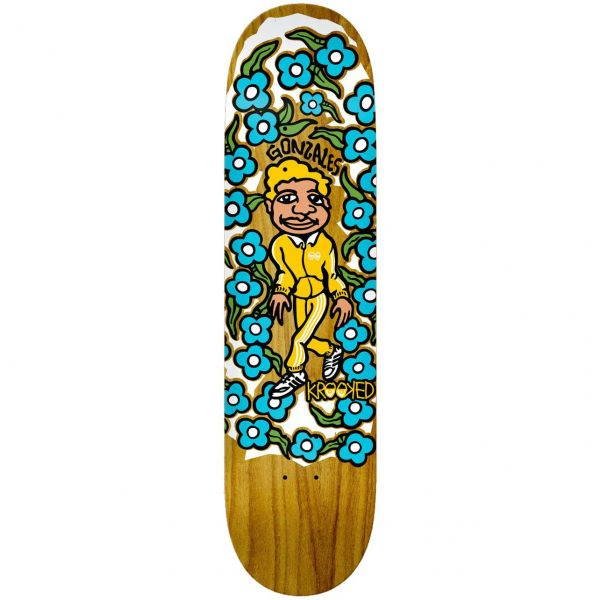 Krooked Gonz Sweatpants Skateboard Deck - Multi 8.5''