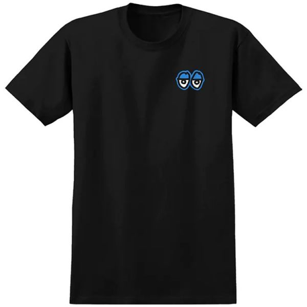 Krooked Strait Eyes T Shirt - Black/Blue