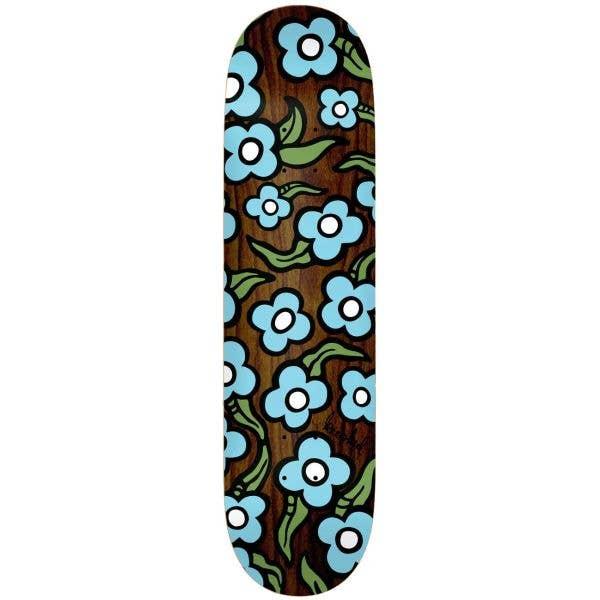 Krooked Team Wild Style Flowers Skateboard Deck - Multi 8.5''