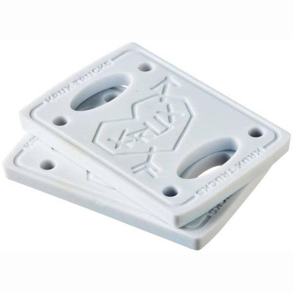 Krux 1/4'' Skateboard Riser Pads - White