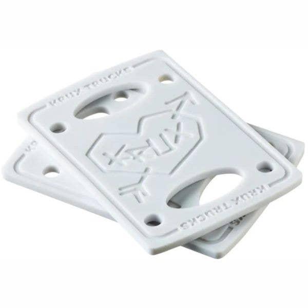 Krux 1/8'' Skateboard Riser Pads - White