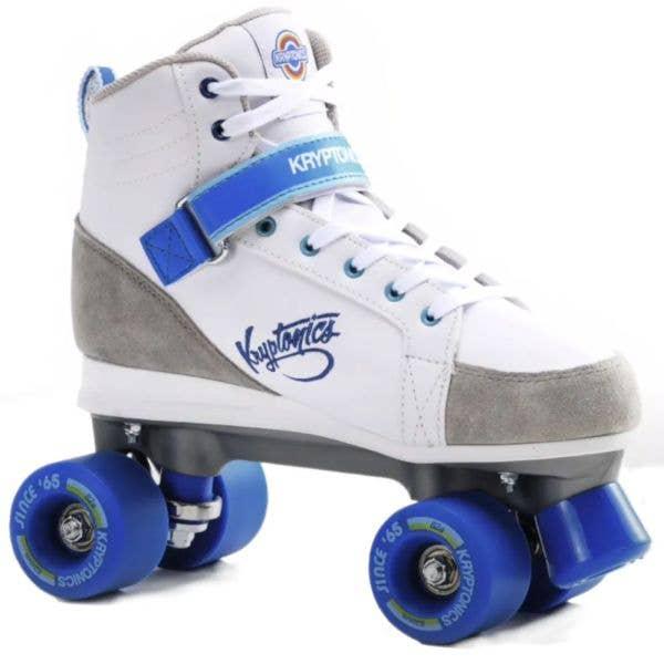 Kryptonics Blitz Quad Roller Skates - White/Blue