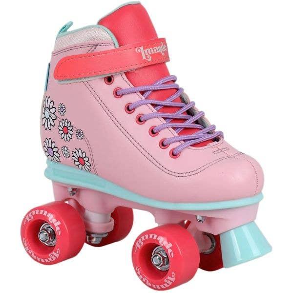 LMNADE Vibe Quad Roller Skates - Pink (Flowers)
