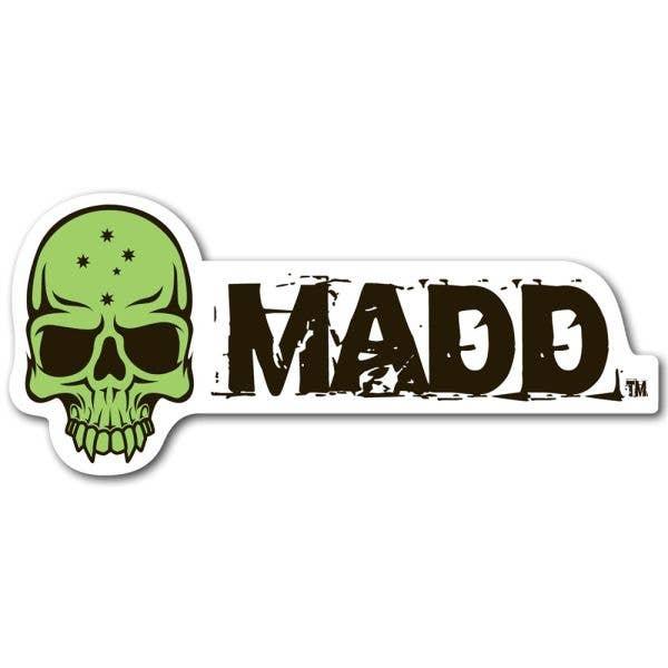 MGP MADD Logo Sticker - Green