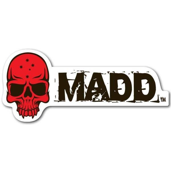 MGP MADD Logo Sticker - Red
