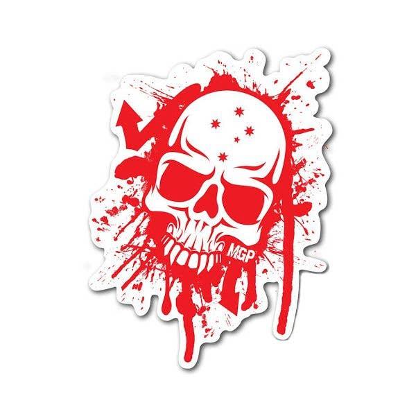 MGP Skull Splat Sticker - Red