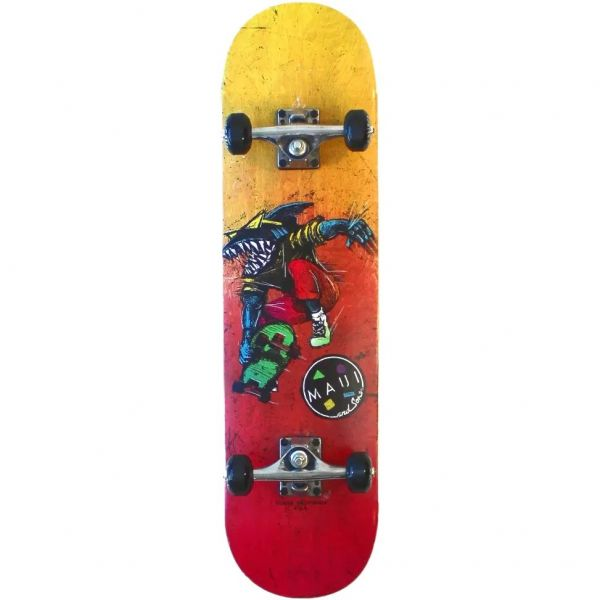 Maui and Sons Aggro Skater Complete Skateboard - 8''