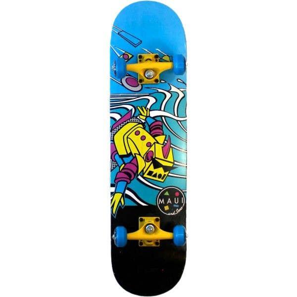 Maui and Sons Brainwave Complete Skateboard - 8''