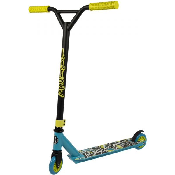 Maui and Sons Destroyer Evolution Kids Stunt Scooter - Aqua/Black/Yellow