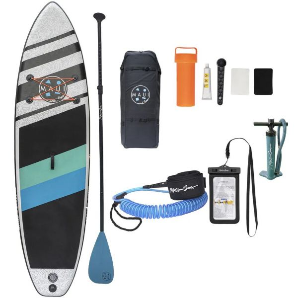Maui and Sons Inflatable Stand Up Paddle Board Set - Blue