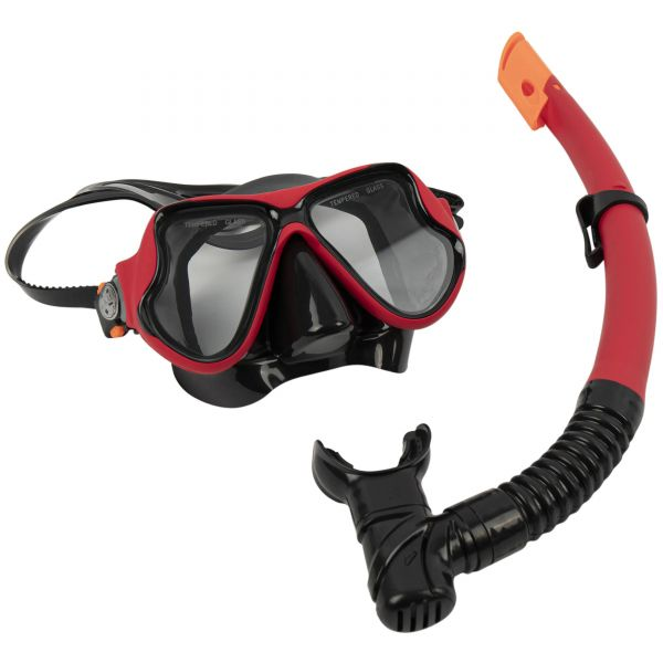 Maui and Sons Pro Snorkel Set - Red