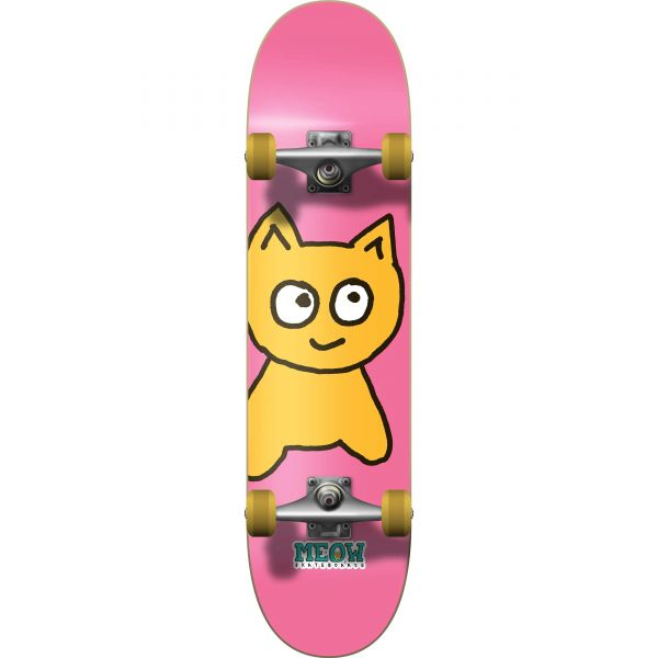 Meow Big Cat Complete Skateboard - Pink 7.75''