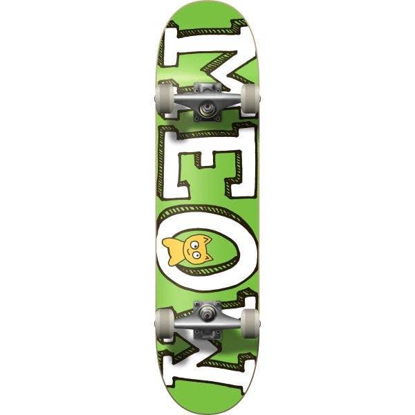 Meow Logo Complete Skateboard - Green 7.75''