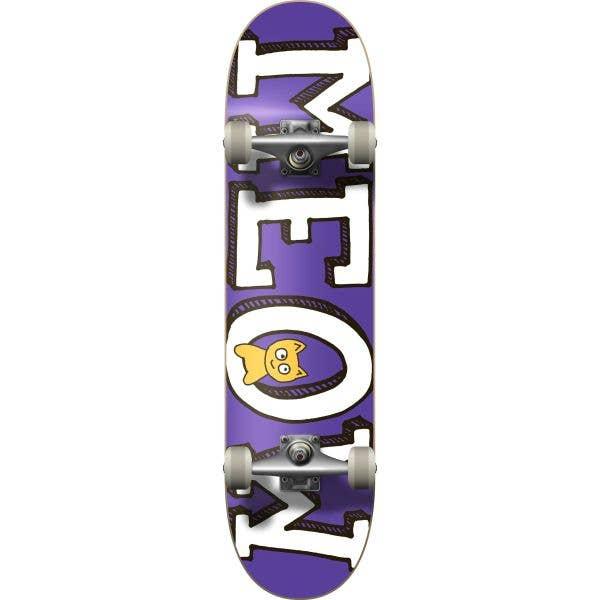 Meow Logo Complete Skateboard - Purple 8.25''