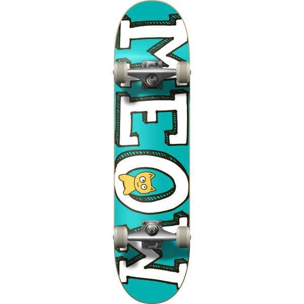 Meow Logo Complete Skateboard - Teal 8''