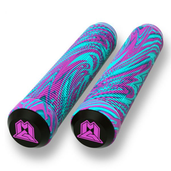 MGP 180mm Swirl Grind Scooter Grips - Pink/Teal
