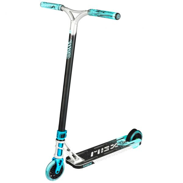 MGP MGX E1 Extreme 5.0'' Stunt Scooter - Silver/Teal