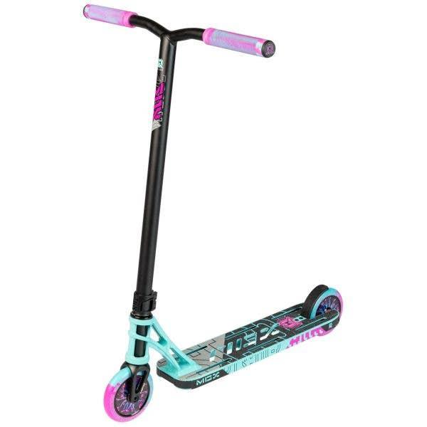 MGP MGX P1 Pro 4.5'' Stunt Scooter - Teal/Pink