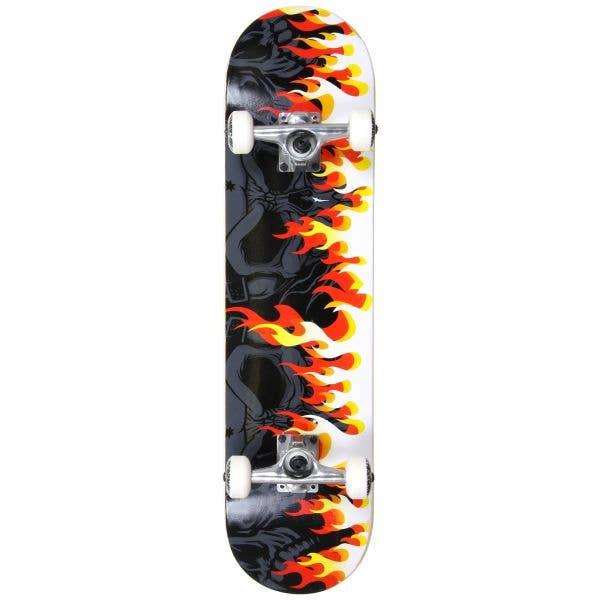 MGP Gangsta Series Complete Skateboard - On Fire 7.75''