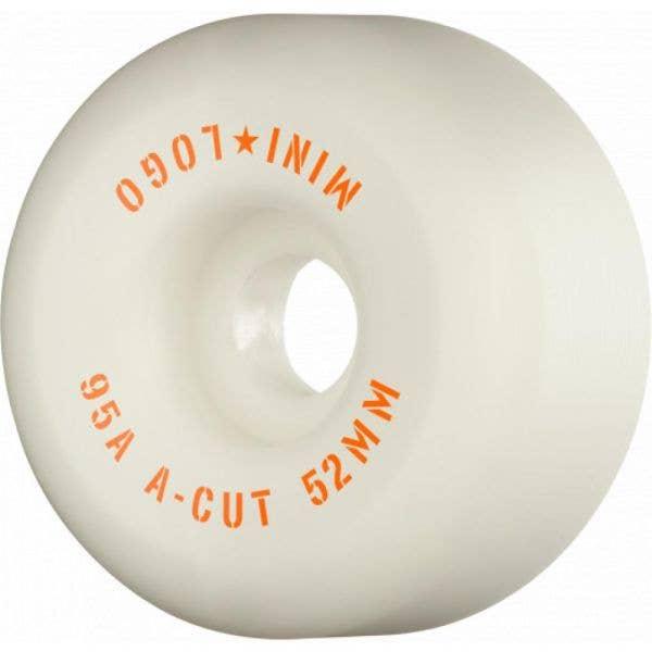 Mini Logo A-Cut 2 Hybrid 95a Skateboard Wheels - White 52mm (Pack of 4)
