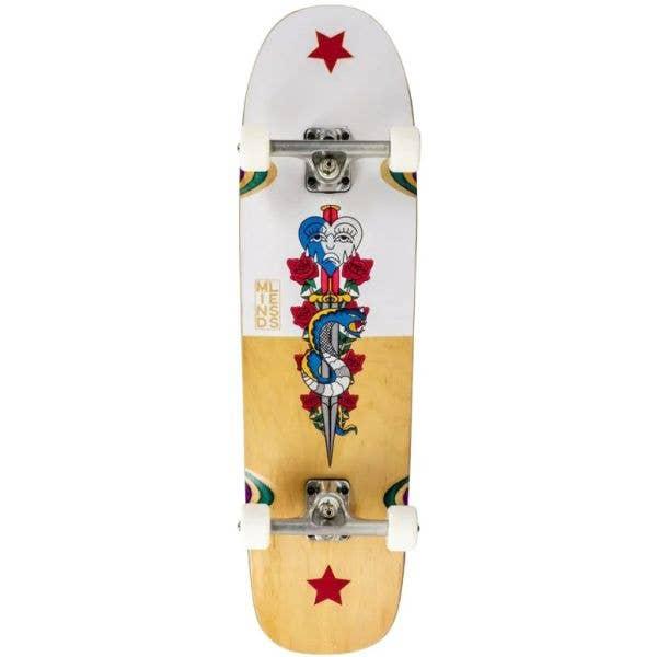 Mindless Flash Snake Complete Cruiser Skateboard - Natural/White 32''