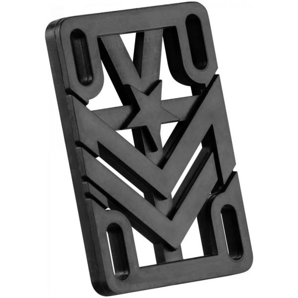 Mini Logo Rigid Riser Pads - Black 1/4''