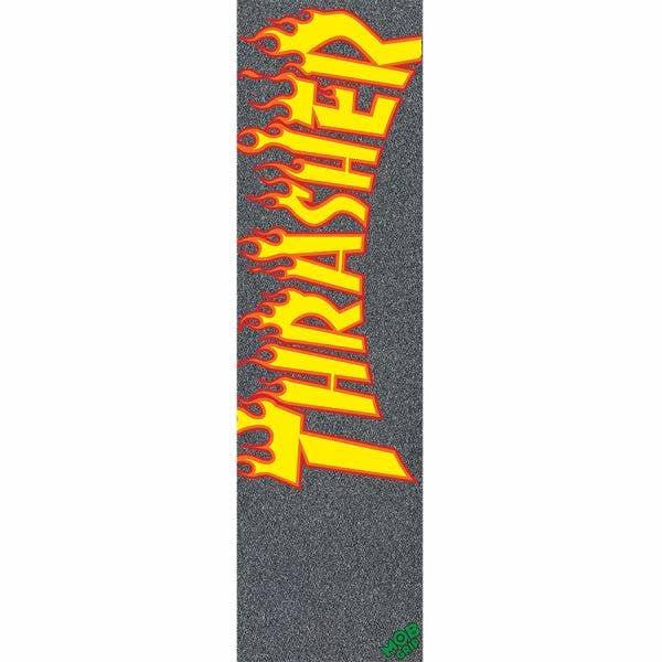 MOB X Thrasher Flame Skateboard Grip Tape - Black
