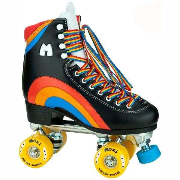 Moxi Rainbow Quad Roller Skates - Black