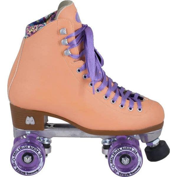 Moxi Beach Bunny Quad Roller Skates - Peach