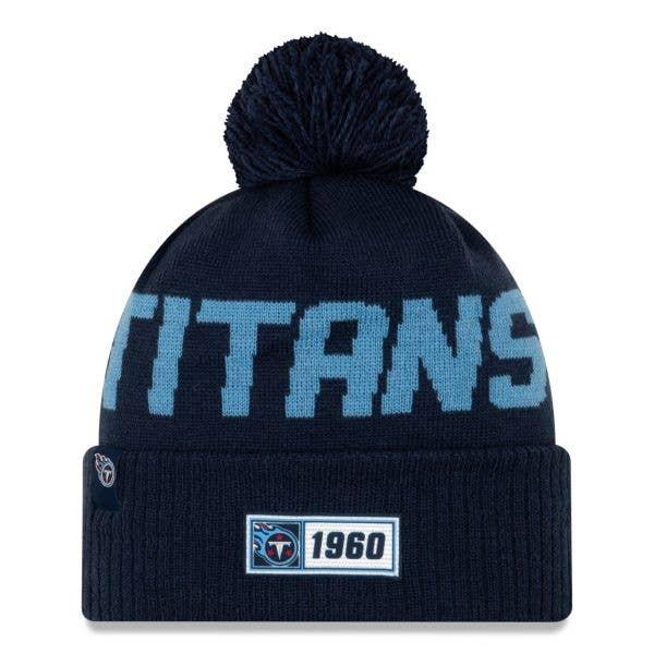New Era Tennessee Titans NFL 2019 Sideline Road Beanie - Oceanside Blue